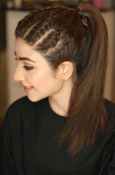 Front Hair Styles, Medium Hair Styles, Curly Hair Styles, Bun Hairstyles For Long Hair, Braided Hairstyles, Indian Hairstyles, Hair Style Vedio, Hair Styler, Light Brown Hair