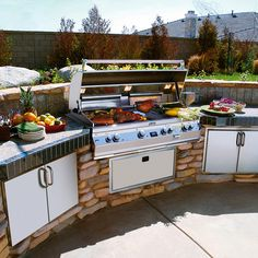 Outdoor Kitchen At