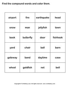 These are great cards and activities to help students as young as kindergarten understand compound words. Free phonemic awareness worksheets for preschool, kindergarten, and first Education worksheets for first grade first grade compound words worksheet. Worksheets For Kids, Kindergarten Worksheets, Printable Worksheets, Kindergarten Learning, Grammar Worksheets, Learning Centers, Fun Learning, Idioms Words, Word Bingo