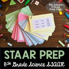 Flash cards to help students study for the 8th grade science STAAR test