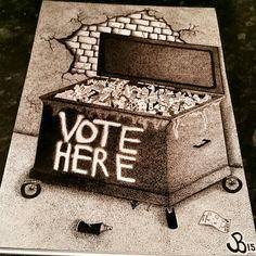 Recycled System ♻  #artivism #design #politics #politicalart #freehand #art #sketch #graffiti #urban #sketch #drawing #election