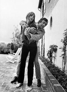 Serge Gainsbourg, with Jane Birkin Paris, France, by Tony Frank.