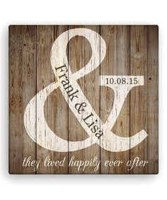 Take a look at this 'They Lived Happily Ever After' Personalized Canvas on zulily today!