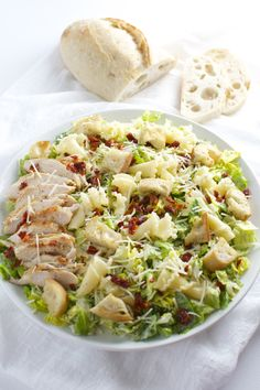 Parmesan Peppercorn Chicken Salad with Sun Dried Tomatoes and Pasta is easy to prepare and full of delicious flavors. Food Test, Best Chicken Recipes, Pasta Salad Recipes, Chicken Seasoning, Dried Tomatoes, Sun Dried, Healthy Recipes, Delicious Recipes, Vegetarian Recipes
