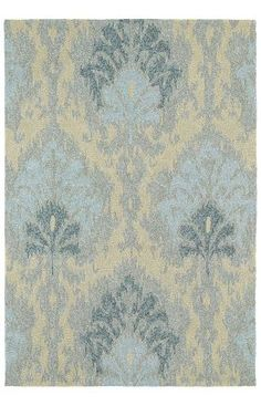 Kaleen Habitat Outdoor Sea Spray Ikat Spa Rug USA RUGS  9X12- $780.00 10X14- $1,000