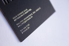 Gold foil on black paper   HAUS Identity Materials by HAUS