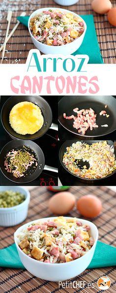 Una receta perfecta para la cena o si tienes ganas de comer algo más elaborado sin pasar horas en la cocina. #arroz #arrozcantonés #arroz3delicias