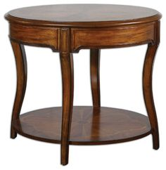 Corianne Round Lamp Table - traditional - Side Tables And End Tables - Fratantoni Lifestyles