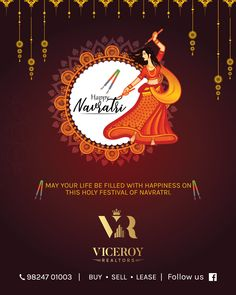 We create visual branding using print and digital media to increase the value of your business, that drives more goodwill & customers to your business that you can notice. Navratri Greetings, Happy Navratri Wishes, Happy Navratri Images, Creative Poster Design, Ads Creative, Creative Posters, Creative Advertising, Advertising Design, Business Cards Layout