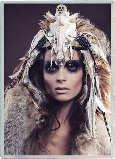 Beautiful examples of head-dresses