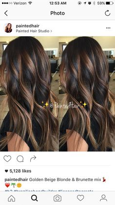 17 Stunning Examples of Balayage Dark Hair Color - Style My Hairs Ombre Hair, Balayage Hair, Bayalage, Haircolor, Hair Painting, Brunette Hair, Hair Highlights, Golden Highlights, Color Highlights