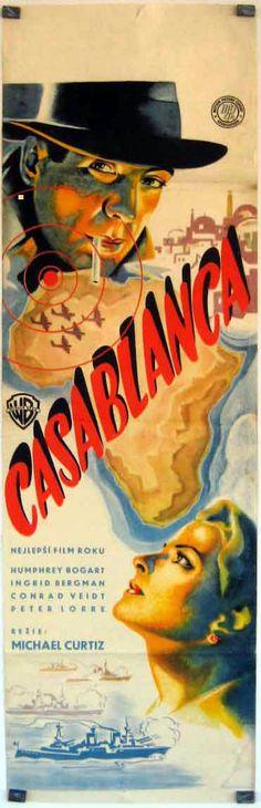 """CASABLANCA"" (1942)Humphrey Bogart, Ingrid Bergman, Claude Rains"