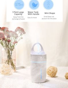 Ultrasonic Humidifier With Colorful Led Light for Home Car Office Essential Oil Aroma Diffuser Purifier Auto Power-off
