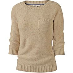 Super soft feel, cosy jumper in a great flecked knit; throw on for a perfectly laid back autumn day. ¾ sleeves. Patch pocket detail. 60% cotton, 40% acrylic, m…