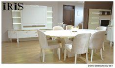 Quattro Dining Room  Iris Concept Living  Pinterest  Iris Fair Wall Units For Dining Room 2018