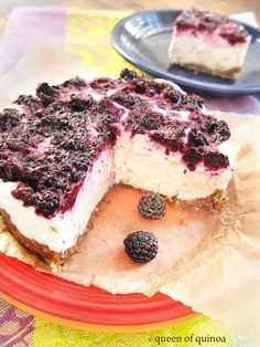 Raw Black Raspberry Cheesecake | Queen of Quinoa