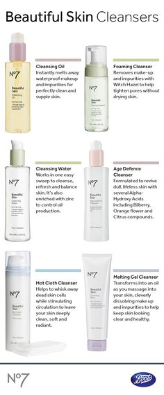 Clear away impurities while  protecting your skin's natural moisture levels with our No7 Beautiful Skin cleansers. Which is right for you?