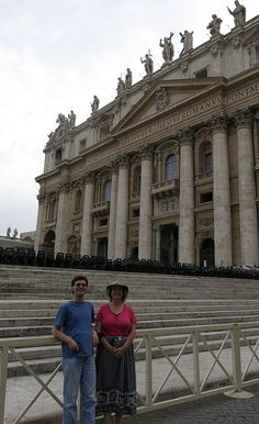 Cindy and Patrick in front of St. Peter's