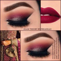 #ShareIG Makeup ideas for the brides or just any maroon/plum/burgundy lovers ;) Double tap if your it...Full list of products (including pics) used for this look can be found here--> http://bit.ly/SangriaLove ... You can also check my previous pic for all the details. Friend me on FB www.facebook.com/preankas.makeup I also have a Blog- https://preankaglam.blogspot.com #PreankaGlam #GlamTheorybyPreanka #Preanka_Glam @anastasiabeverlyhills #MayaMiaPalette & #TamannaPalette & dip brow ...
