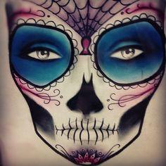 sugar skull face chart