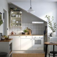 Arcezio - visualization solutions for Real Estate New Kitchen, Kitchen Dining, Kitchen Decor, Ikea Kitchen Cabinets, Kitchen Furniture, Knoxhult Ikea, Shed Decor, Home Decor, Simple Kitchen Design