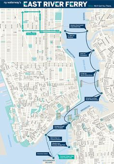 east river ferry interactive map ny pinterest east river