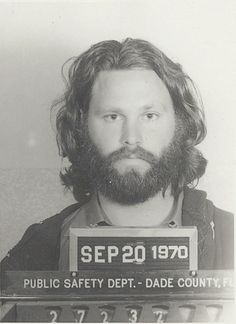 Jim Morrison mugshot - September 1970.