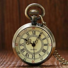 Quality Simple Style Steampunk Beige Dial Small Antique Bronze Roman Numerals Dial Quartz Pocket Watch Necklace Pendant Mens Gifts Women with free worldwide shipping on AliExpress Mobile Style Steampunk, Quartz Pocket Watch, Quartz Watch, Pocket Watch Necklace, Personalized Gifts For Her, Unisex Gifts, Pocket Watch Antique, Bronze, E Bay