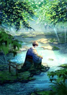 Sky Anime, Manga Anime, Anime Artwork, Fantasy Artwork, Aesthetic Art, Aesthetic Anime, Pixiv Fantasia, Accel World, Environment Concept Art