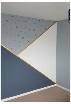 Room Wall Painting, Kids Room Paint, Wall Painting Patterns, Wall Painting Design, Boys Bedroom Paint, Girl Bedroom Walls, Room Art, Bedrooms, Geometric Wall Paint