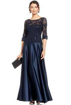 Brides.com: . Sequin lace illusion gown, $179, JS Collections available at Macy's