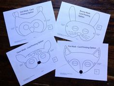 Make your own Fox, Fawn, Bunny and Owl masks with this Woodland Animal masks PDF…