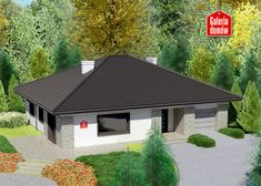 Projekt domu: Dom przy Słonecznej 5 Modern House Facades, Cottage Style House Plans, Facade House, Future House, Gazebo, Sweet Home, Shed, Outdoor Structures, House Design
