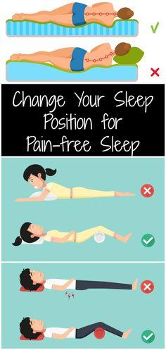 Change Your Sleep Position for Pain-free Sleep