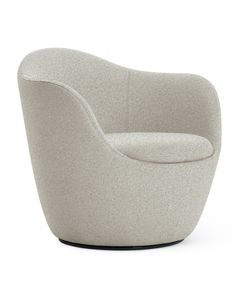 The Lína Swivel Chair by Design Within Reach doesn't have a single straight line with every surface moving. Lounge Chair Cushions, Sofa Chair, Swivel Chair, Recliner Chairs, Furniture Styles, New Furniture, Furniture Design, Fire Pit Table And Chairs, Buy Chair