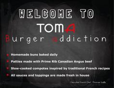Toma burger addiction - Best burger bar and restaurant in Toronto