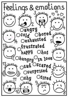 A simple matching exercise to practise feelings and emotions. Hope you find it useful. Have a nice a week, mada  - ESL worksheets