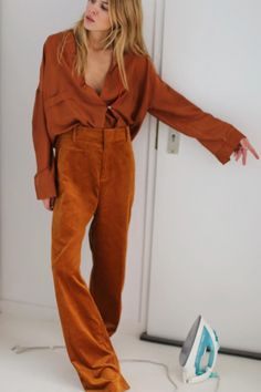 Size up for a relaxed and easygoing fit. On Maja Wyh: Mango High-Waist Corduroy Trousers ($120)