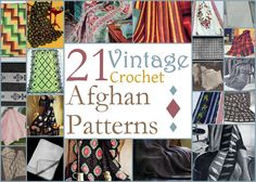 Lovers of all things vintage - embrace the classic looks of these free vintage crochet patterns. With 21 Vintage Crochet Afghan Patterns youll discover forgotten stitch patterns and crochet styles that youll just be itching to try again. Its always good to look back and see what was popular then and see how it affects how you crochet now.