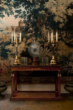 We are having a week off and these are recent photographs taken in the shop French century marquetry commode with early cen. Exterior Design, Interior And Exterior, Decor Interior Design, Interior Decorating, Furniture Design, Large Tapestries, Antique Interior, Antique Art, Art Deco