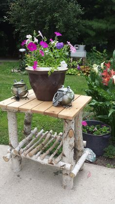 Twig Crafts, Garden Crafts, Garden Projects, Garden Art, Willow Furniture, Rustic Furniture, Garden Furniture, Diy Wood Projects, Outdoor Projects