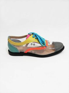 Ground Zero X Alex & Rose Neon Clear Brogues side