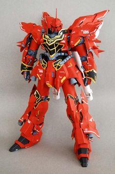 Very Detailed PG MSN-06S Sinanju Ver.6 Free Gundam Papercraft Download