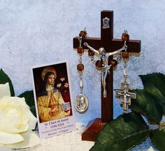 Traditional Unbreakable Relic Chaplet of St. Clare of Assisi - Patron Saint of Communications, Laundry & Needle Workers and Eye Health by foodforthesoul on Etsy