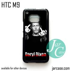 Norman Rreedus as Daryl Dixon Middle Finger - Z Phone Case for HTC One M9 case and other HTC Devices