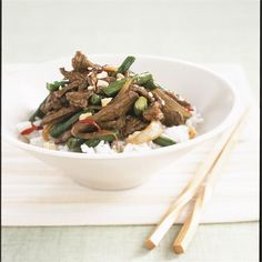 Cashews give extra crunch to this beef stir-fry, swap them with almonds, or you could even use toasted walnut pieces if you like.