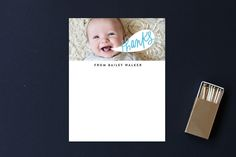 Personalized children's stationery and thank you notes. So cute!