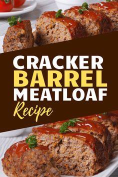 Classic Meatloaf Recipe, Good Meatloaf Recipe, Best Meatloaf, Beef Meatloaf Recipes, Meatloaf Recipe Ritz Crackers, Homemade Meatloaf, Hamburger Recipes, Cracker Barrel Meatloaf, Cracker Barrel Recipes