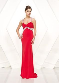 295bc8aec6d4a Elegant Red Formal Prom Evening Dress With Straps HB130A