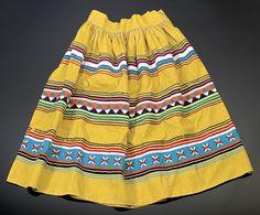 Seminole Cotton Patchwork Skirt, - Cowan's Auctions
